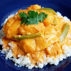 Vegetarian Thai Red Curry with Squash- this is a comforting and wholesome meal that even picky eaters will enjoy.