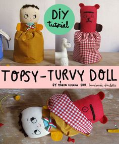 A simple DIY Topsy-Turvy Rag Doll from Misako Mimoko that you can sew in time for Christmas. So fun!