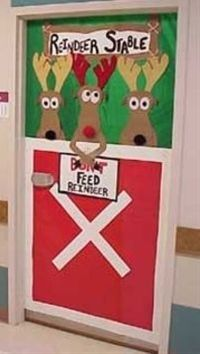Maybe one big reindeer covering the word don't , and small reindeer for each student?