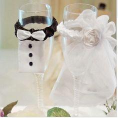marie et le mari de mariage parti verres vin champagne fltes couverture dcoration dans accessoires - Aliexpress Decoration Mariage