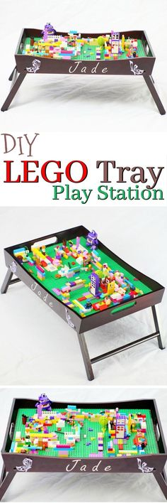 How to make a Portable DIY Lego table | Diy lego table, Tv tables ...