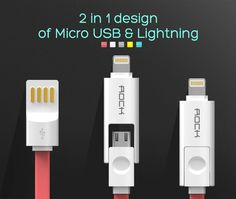Micro USB Cable for iPhone 6, 6s, Plus, 5s, iPadmini / Samsung - free shipping worldwide