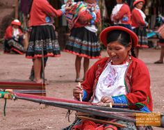 Woman Weaving in The Sacred Valley Peru