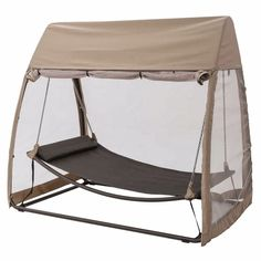 Poolside Hammock - TrueShade Plus Portable Freestanding Patio Backyard Swinging Hammock - Gondola Style One Person Hammock x ) Apple Green