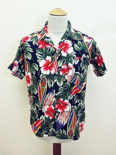 Vintage Hawaiian Classic Floral Shirt Large