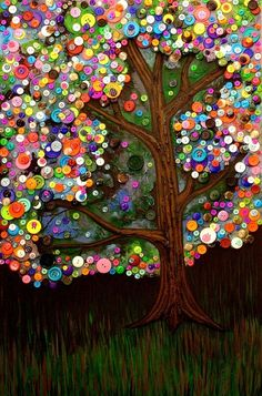 button tree art | Rarely Pins