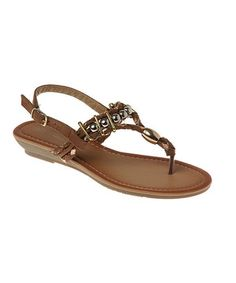 Loving this Passions Footwear Brown Milan Sandal on #zulily! #zulilyfinds