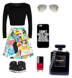 """""""😍😍"""" by alexia-chitul on Polyvore featuring DC Shoes, Ray-Ban, Moschino and Chanel"""