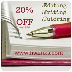 20% of editing, writing, tutoring.