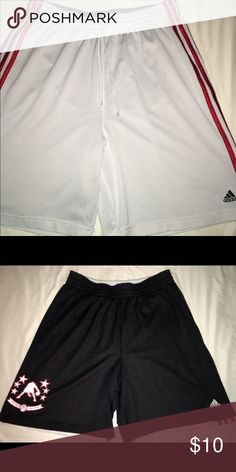 Reversible Adidas Gym Shorts White side has couple stains and black side is in great condition. Perfect shorts to change attire quick. Adidas Shorts Athletic