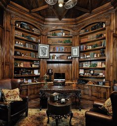 My Office/library All Of My Books Will Fit On Those Shelves. #office