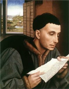Saint Ivo - Rogier van der Weyden.  1450.  Oil on panel.  45 x 35 cm.  The National Gallery, London.