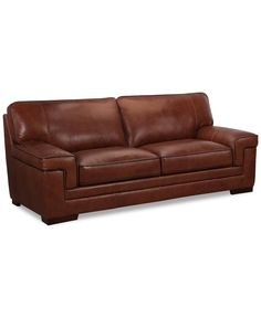 Myars Leather Sofa - Living Room Collections - Furniture - Macy's