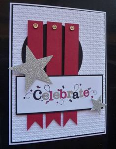 Outlined Celebrate - ML102 by MarianneLamb - Cards and Paper Crafts at Splitcoaststampers