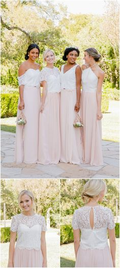 Boho Loves: Bohemain Bridesmaids Dresses and Stylish Mix and Match Seperates from Revelry - Boho Weddings For the Boho Luxe Bride Casual Bridesmaid Dresses, Bridesmaid Tops, Casual Wedding Attire, Bridesmaid Separates, Bohemian Bridesmaid, Bridesmade Dresses, Boho Beach Wedding, Bridesmaids, Wedding Dresses
