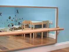 It would be nice to have a movement area of the room and I am definitely considering a Montessori-style floor bed. She's currently in a small crib as that is what we have in the apartment we're renting, but when we get home I'd like to have a floor bed.