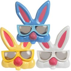 Fun Play EASTER BUNNY RABBIT GLASSES Costume Mask Kid Toy Basket Party Favor~ONE picclick.com