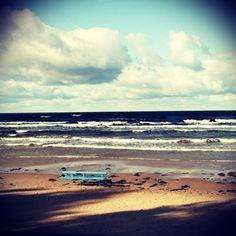 #latvia #jurmala #sea #bench