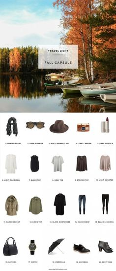 Pack for a Fall Trip with this Fall Capsule Wardrobe