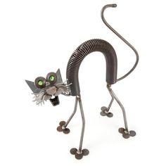 New Fraidy Cat Yardbirds Richard Kolb Ceramic Pottery, Ceramic Art, Recycled Metal Art, Metal Art Sculpture, Metal Garden Art, Iron Art, Junk Art, Welding Art, Metal Crafts
