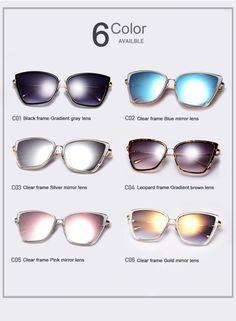 AOFLY nové módne slnečné okuliare Ženy Cat zrkadlové okuliare Metal Cat Eye  Sunglasses Women Značka Designer 3ec4d25a485