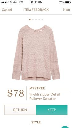 LOVE the style of this sweater, and the color is lovely as well. I would take it in a green hue as well or a brighter color like mustard or coral-like.