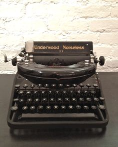 our antique underwood typewriter