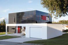 Photovoltaik an Fassade, Fa. Sto