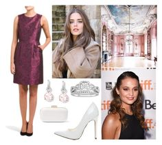 """""""(ROYAL CROSSOVER: FLASHBACK) Amelia attends the private birthday celebration of HRH Crown Princess Xenia of Genovia"""" by hrh-amelia-of-croatia ❤ liked on Polyvore featuring Dennis Basso, Modern Bride, Riviere, MICHAEL Michael Kors and XeniaBG20"""