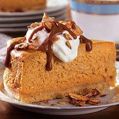 Dulce de Leche–Pumpkin Cheesecake with Candied Almonds | MyRecipes ...