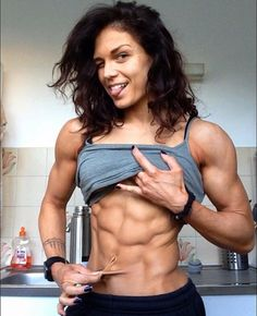 """ wolfofthewharf: "" Manon Verge "" you can't go wrong with a Manon Verge compilation "" Ripped Girls, Girls With Abs, Crossfit, Easy Ab Workout, Workout Exercises, Fitness Exercises, Workouts, Eco Slim, Model Training"