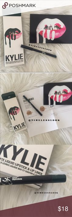 Trick Kylie Cosmetics lip kit - Liner Only - •brand new never used just opened for pics •ships tomorrow •listing is only for lip liner - I kept gloss stick •no trades - no lowballs  • Authentic !!!!! I personally purchased from Kyliecosmetics.com - not a resale or re posh !    Also selling maliboo lip liner 💕 Kylie Cosmetics Makeup Lip Liner