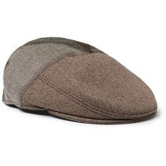 Etro Panelled Wool-Blend Flat Cap