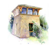 potting shed below. guest suite above