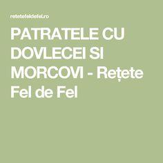 PATRATELE CU DOVLECEI SI MORCOVI - Rețete Fel de Fel
