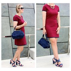 Oxblood and navy