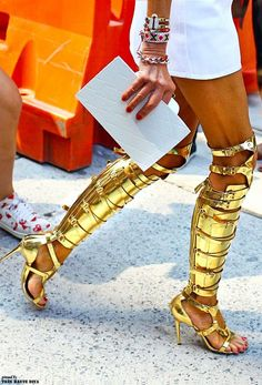 Anna Dello Russo in Tom Ford shoes at NYFW S'14