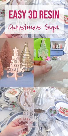 Easy 3D Resin Christmas Sign - Happily Ever After, Etc. #pinkchristmas #pinkchristmastree #resinprojects #resinchristmas