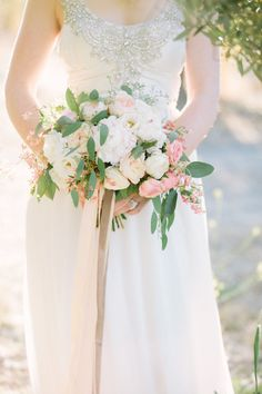 Dreamy, white, blush