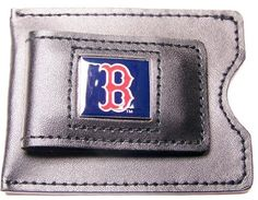 MLB Boston Red Sox Leather Money Clip and Card Case by aminco. $14.95. Money clip opens all the way, then snaps tightly shut. Comes in a gift box. Save 12%!