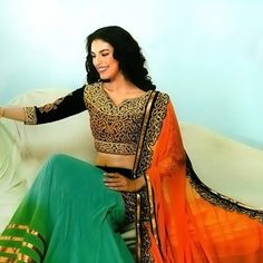 #Green #Lehenga #Choli with Dupatta