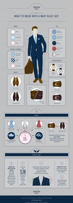 What goes with a navy blue suit