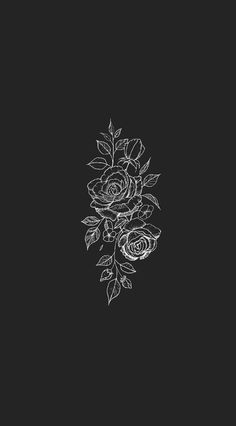 Fondo simple, black flowers wallpaper, black and white wallpaper phone, dar Black Flowers Wallpaper, Wallpaper Sky, Vintage Wallpaper, Wallpaper Free, Tumblr Wallpaper, Screen Wallpaper, Mobile Wallpaper, Wallpaper Quotes, Wallpaper Backgrounds