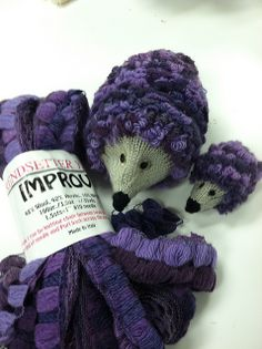 What a great idea for using ruffle yarns – knit a hedgehog! Ravelry: Jen4woolworks' Hedgehog