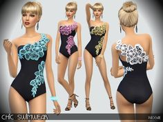 The Sims Resource: Chic Swimwear by Paogae • Sims 4 Downloads