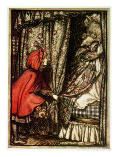 Little Red Riding Hood Giclee Print by Arthur Rackham at AllPosters.com
