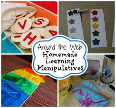 Homemade Learning Tools -- 15 learning tools you can make yourself using common household items! #ece
