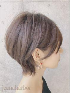 大人かわいい耳かけくびれショートボブ:L076658194|ジーナハーバー(JEANA HARBOR)のヘアカタログ|ホットペッパービューティー Short Hair Lengths, Short Hair Styles Easy, Short Hair Cuts, Trendy Hairstyles, Bob Hairstyles, Cabello Hair, Long Bangs, Gorgeous Hair, Hair Inspo