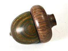 LV-1430 Verawood & Live Oak Acorn Trinket Box, Keepsakes, Jewelry Box-SCREW CAP