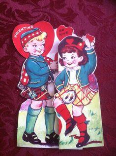 Vintage Scottish Theme Valentine